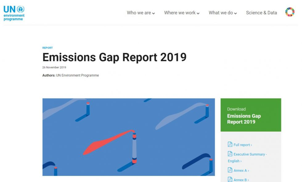 UNEP Emissions Gap Reports